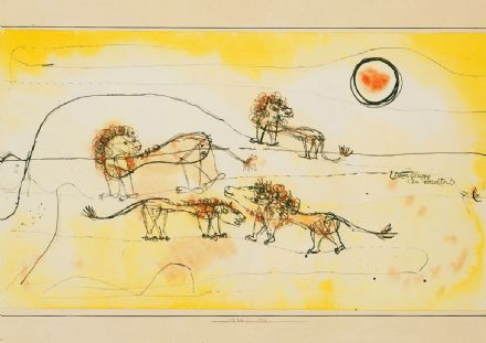 Klee, Paul: A Pride of Lions (Take Note!). Fine Art Print/Poster (4979)